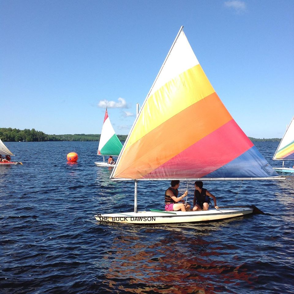 Sailing regatta at Camp Chikopi